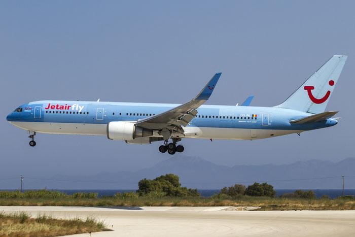 OO-JNL B767-304ER 29384/784 Jetairfly @ Rhodes Airport 08.07.2015 © Piti Spotter Club Verona