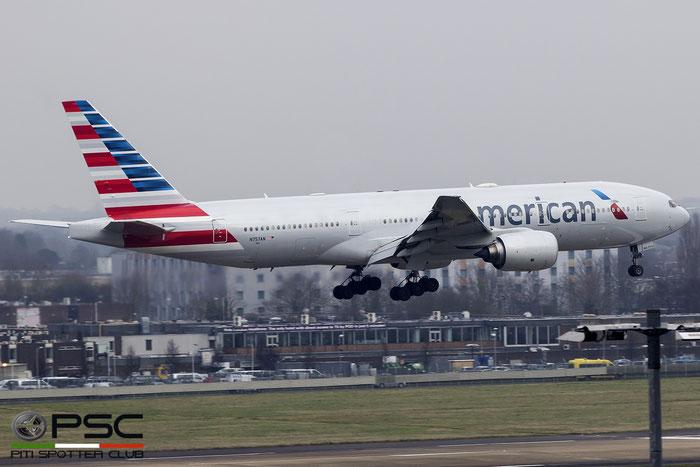 N757AN B777-223ER 32636/363 American Airlines @ London Heathrow Airport 14.02.2017 © Piti Spotter Club Verona