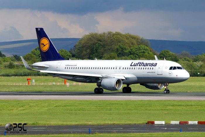 D-AIZX A320-214 5741 Lufthansa @ Manchester Airport 13.05.2014  © Piti Spotter Club Verona