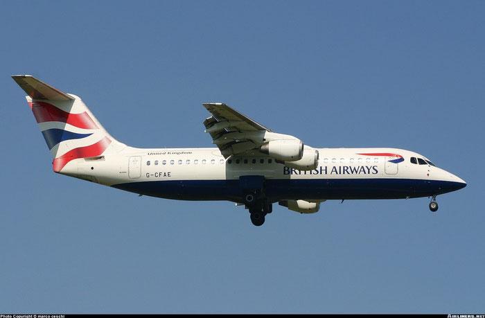 BAe 146 / Avro RJ - MSN 3381 - G-CFAE - British Airways Cityexpress @ Aeroporto di Verona © Piti Spotter Club Verona