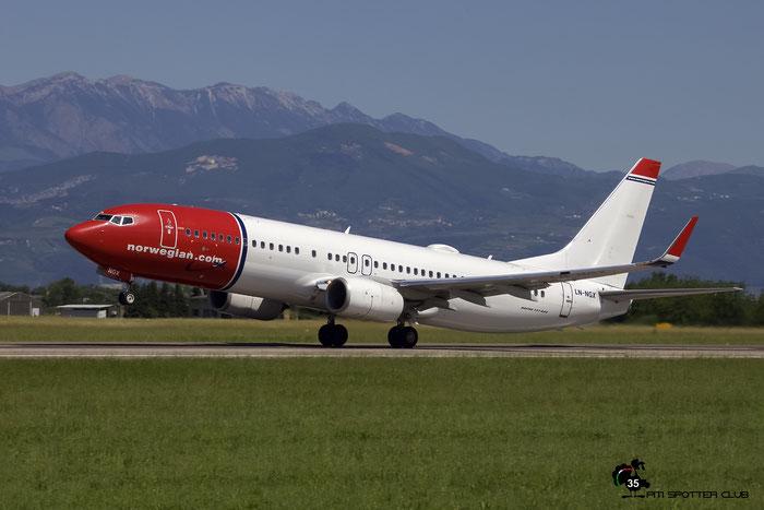 LN-NGX B737-8JP 39033/4927 Norwegian @ Aeroporto di Verona 21.05.2017  © Piti Spotter Club Verona