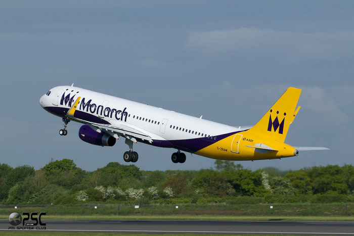 G-ZBAM A321-231 6059 Monarch Airlines @ Manchester Airport 13.05.2014 © Piti Spotter Club Verona