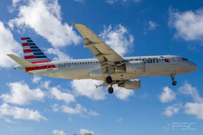 N117UW A320-214 1224 American Airlines @ Sint Maarten Airport 09.04.2016 © Piti Spotter Club Verona