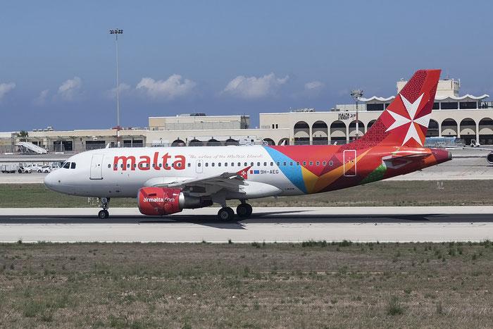 9H-AEG A319-112 2113 Air Malta @ Malta Airport 08.2015 © Piti Spotter Club Verona