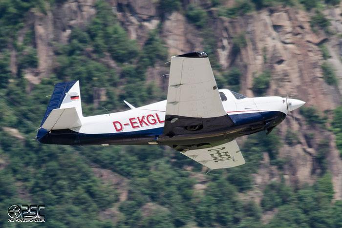 D-EKGL Mooney M-20J 201 M20P 24-3232 @ Aeroporto di Bolzano © Piti Spotter Club Verona