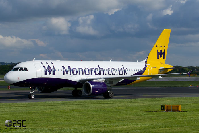 G-OZBK A320-214 1370 Monarch Airlines @ Manchester Airport 13.05.2014 © Piti Spotter Club Verona
