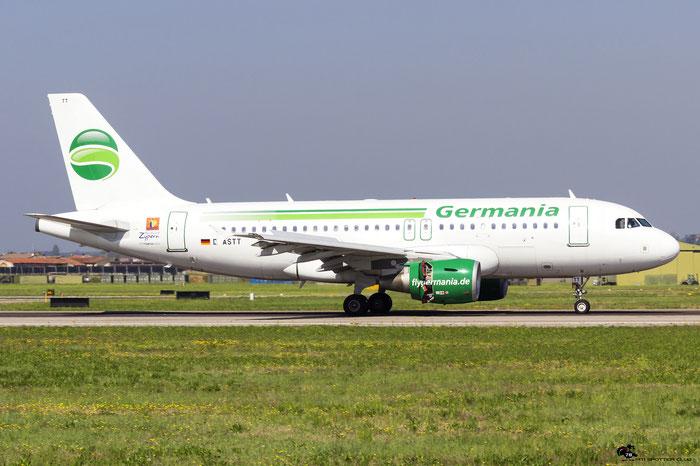 D-ASTT A319-112 3560 Germania @ Aeroporto di Verona 08.04.2017  © Piti Spotter Club Verona