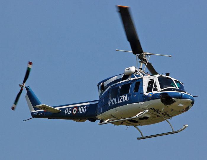 PS-100 Polizia di Stato Helicopter Agusta AB212 Serial 5841 @ Aeroporto di Verona   © Piti Spotter Club Verona