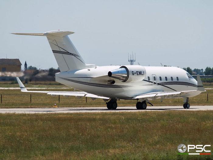 G-EMLI CL-604 5383 Twinjet Aircraft Sales Ltd. @ Aeroporto di Verona 15.07.2007  © Piti Spotter Club Verona