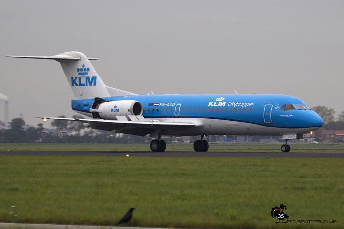 PH-KZD Fokker 70 11582 KLM Cityhopper @ Amsterdam Airport - 24.10.2015  © Piti Spotter Club Verona