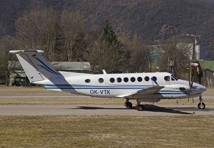 OK-VTK Beech 350 FL-322 Time Air s.r.o. @ Aeroporto di Bolzano © Piti Spotter Club Verona