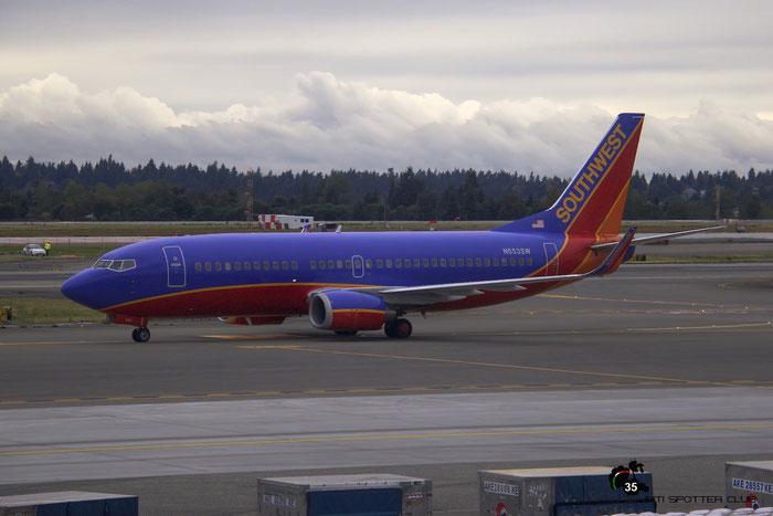 N653SW B737-3H4 28398/2917 Southwest Airlines @ Seattle Tacoma Airport 25.09.2015 © Piti Spotter Club Verona