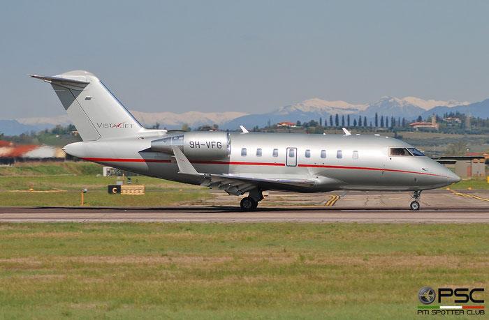 9H-VFG  CL-605  5978  VistaJet Malta @ Aeroporto di Verona 2021 © Piti Spotter Club Verona