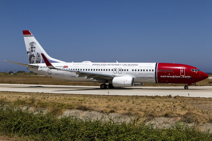 LN-DYU B737-8JP 39008/3725 Norwegian @ Rhodes Airport 07.2015 © Piti Spotter Club Verona