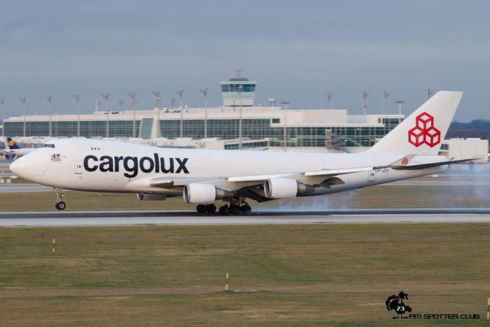 LX-JCV B747-4EVERF 35171/1380 Cargolux @ Munchen Airport 13.12.2015 © Piti Spotter Club Verona