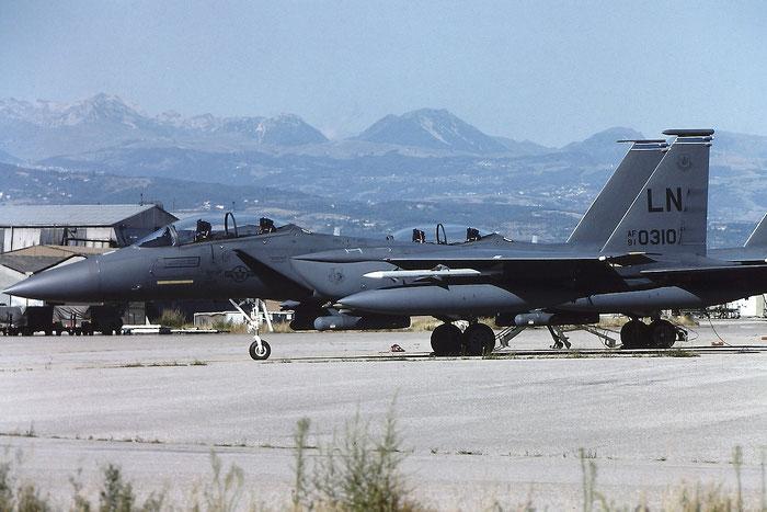 91-0310 LN F-15E-51-MC 1217/E175 494th FS @ Aeroporto di Verona - © Piti Spotter Club Verona