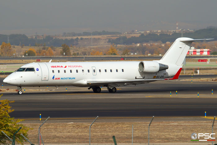 EC-GYI CRJ200ER 7249 Iberia Regional @ Madrid Airport 23.11.2017 © Piti Spotter Club Verona