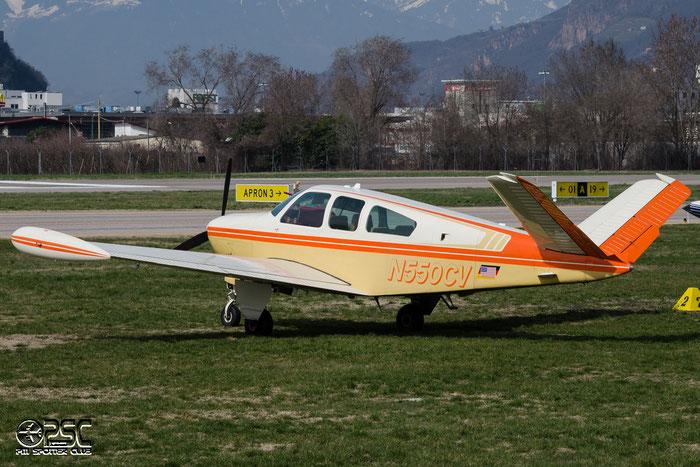 N550CV Beech V35B Bonanza BE35 D-9505 Goodwin-Huber-Wilhelm Linda Lee, Freising @ Aeroporto di Bolzano © Piti Spotter Club Verona