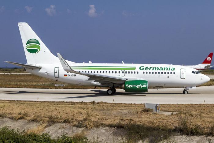 D-AGEP B737-75B 28102/18 Germania @ Rhodes Airport 11.07.2015 © Piti Spotter Club Verona