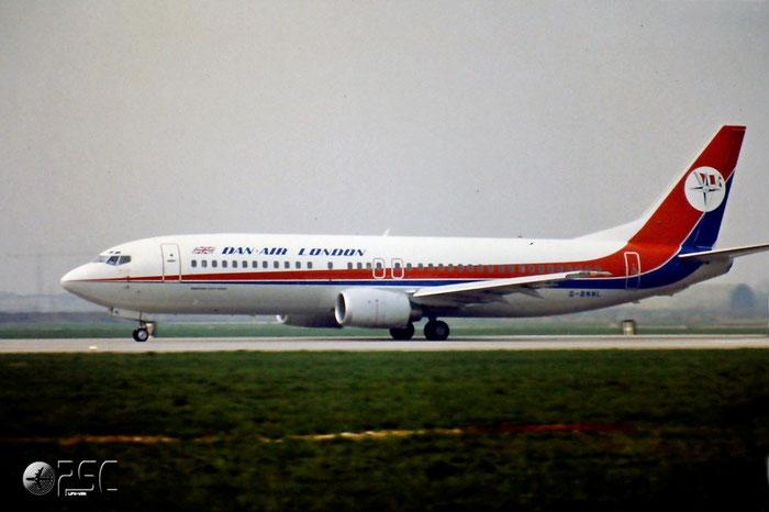 G-BNNL  B737-4Q8  24070/1665  Dan-Air London  @ Aeroporto di Verona © Piti Spotter Club Verona