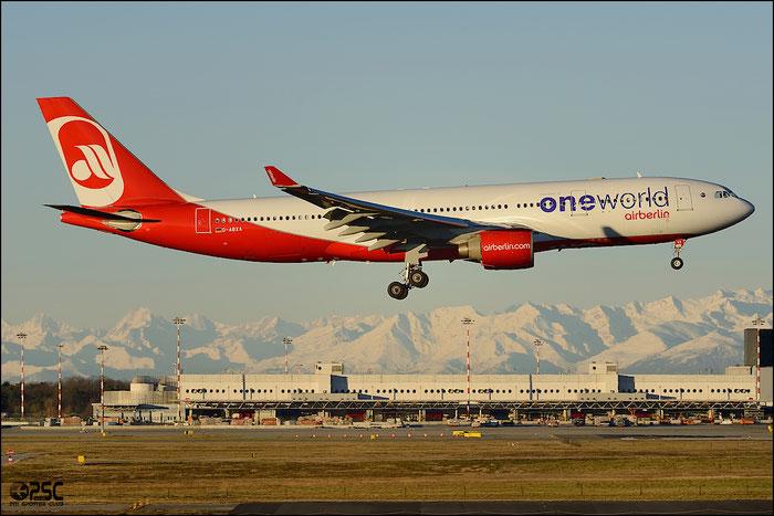 D-ABXA A330-223 288 Air Berlin @ Milano Malpensa Airport 25.01.2014 © Piti Spotter Club Verona