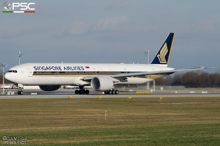 9V-SWL B777-312ER 34577/673 Singapore Airlines @ Munich Airport 13.12.2015 © Piti Spotter Club Verona
