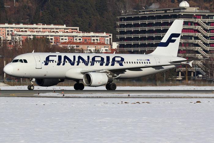 OH-LXM A320-214 2154 Finnair @ Innsbruck Airport 26.01.2013 © Piti Spotter Club Verona