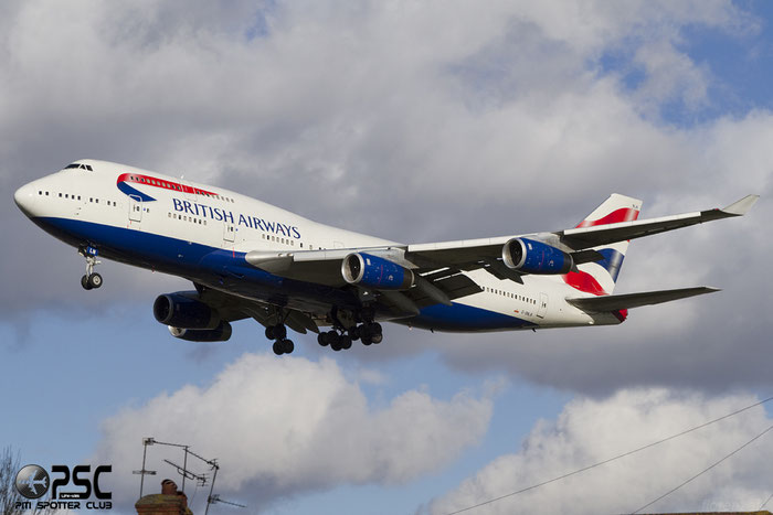 G-BNLN B747-436 24056/802 British Airways @ London Heathrow Airport 07.02.2014  © Piti Spotter Club Verona