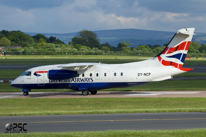OY-NCP Do328-310 3219 Sun-Air of Scandinavia @ Manchester Airport 13.05.2014 © Piti Spotter Club Verona