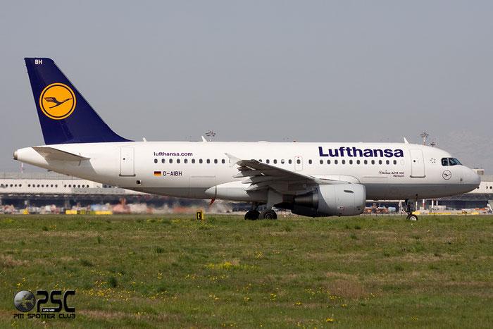 D-AIBH A319-112 5239 Lufthansa @ Milano Malpensa Airport  06.04.2014 © Piti Spotter Club Verona
