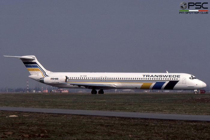 SE-DHB MD-83 49396/1305 Transwede Airways © 2018 courtesy of Marco Ceschi - Piti Spotter Club Verona