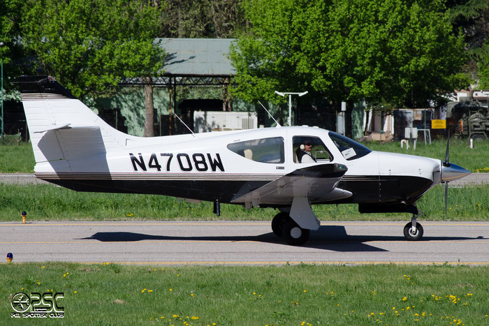 N4708W - Rockwell Commander 112 - Private @ Aeroporto di Bolzano © Piti Spotter Club Verona