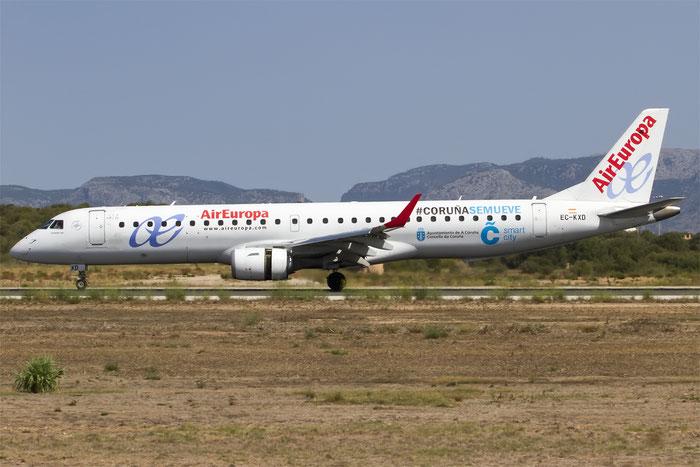 EC-KXD ERJ195LR 19000244 Air Europa @ Palma de Mallorca Airport 07.2014 © Piti Spotter Club Verona
