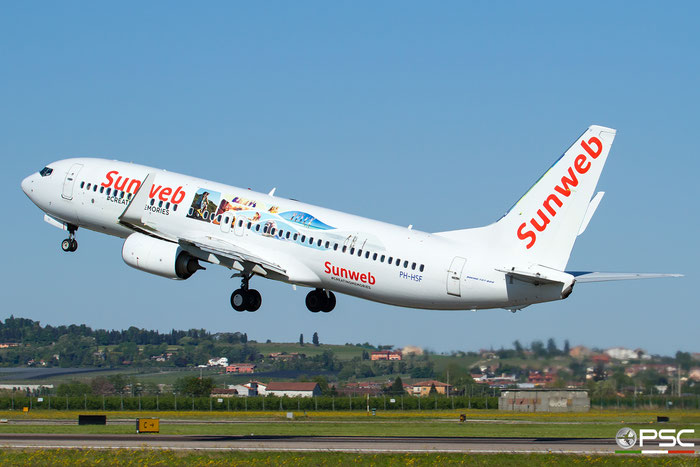 PH-HSF B737-8K2 39261/3998 Transavia Airlines @ Aeroporto di Verona 20.04.2017  © Piti Spotter Club Verona