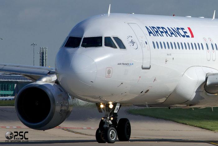 F-GJVW A320-211 491 Air France @ Manchester Airport 13.05.2014 © Piti Spotter Club Verona
