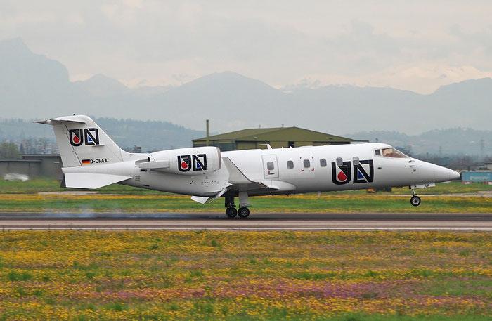 D-CFAX Learjet 60 60-249 FAI Rent-A-Jet @ Aeroporto di Verona 11.04.2018  © Piti Spotter Club Verona