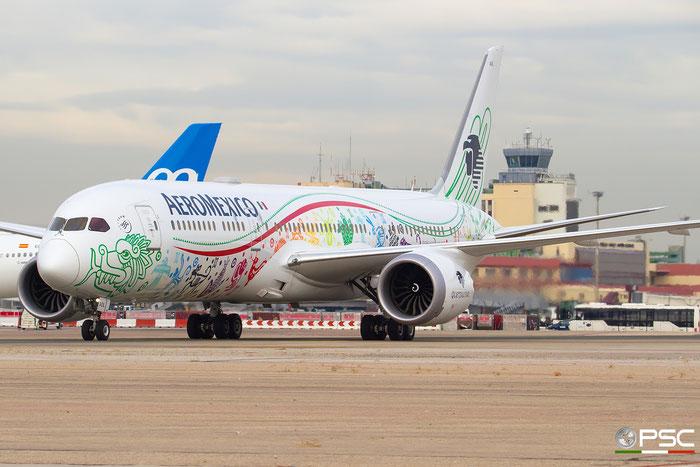 XA-ADL B787-9 43859/483 AeroMéxico - Aerovias de México @ Madrid Airport 23.11.2017 © Piti Spotter Club Verona