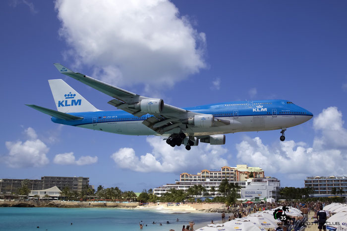 PH-BFA B747-406 23999/725 KLM Royal Dutch Airlines @ Sint Maarten Airport - 05.03.2016  © Piti Spotter Club Verona