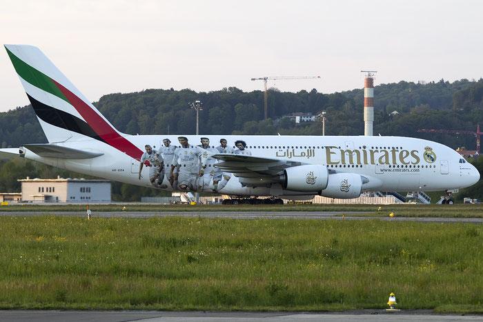 A6-EOA A380-861 159 Emirates @ Zurich Airport 05.2016 © Piti Spotter Club Verona