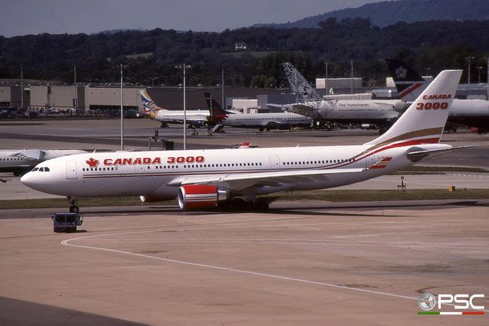 C-GGWC A330-202 272 Canada 3000 Airlines © 2018 courtesy of Marco Ceschi - Piti Spotter Club Verona