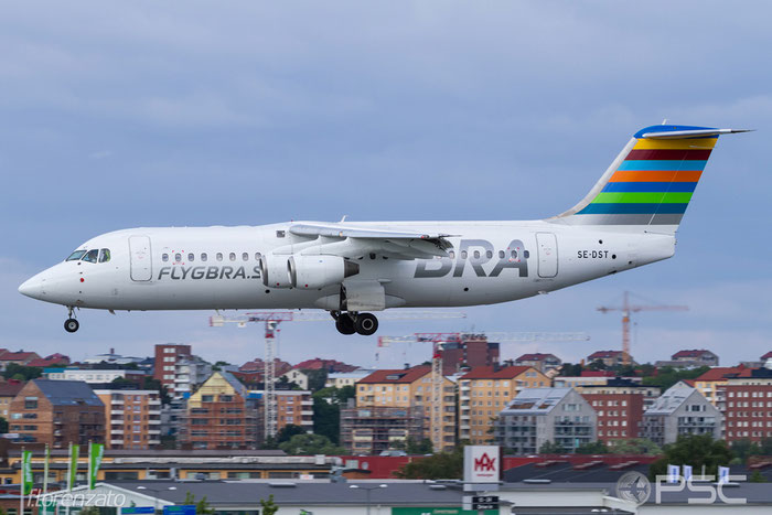 SE-DST BAe146-RJ100 E3247 BRA - Braathens Regional Airlines @ Stockholm Bromma Airport 19.08.2016 © Piti Spotter Club Verona