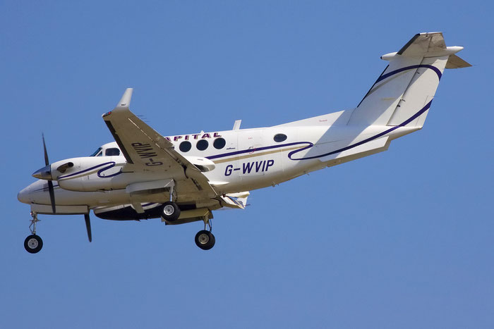 G-WVIP Beech 200 BB-625 Capital Air Ambulance Ltd. @ Venezia Airport 11.08.2012 © Piti Spotter Club Verona