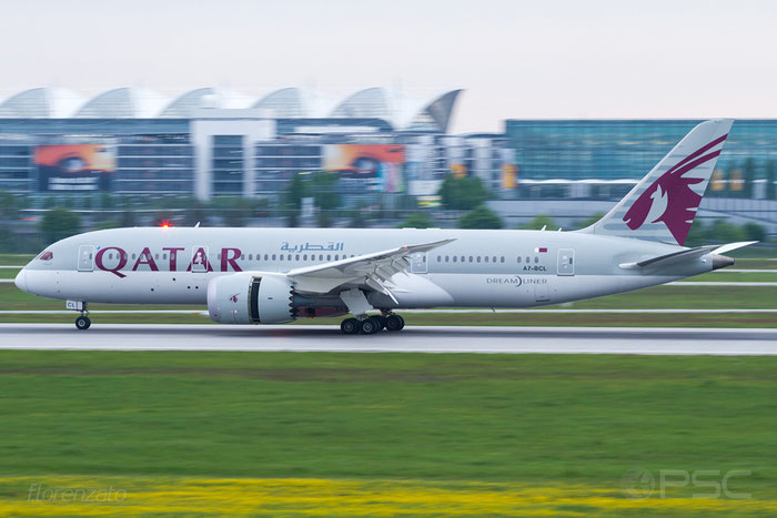 A7-BCL B787-8 38330/64 Qatar Airways @ Munich Airport 15.05.2016  © Piti Spotter Club Verona