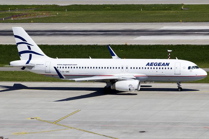 SX-DNC A320-232 6961 Aegean Airlines @ Zurich Airport 05.2016 © Piti Spotter Club Verona