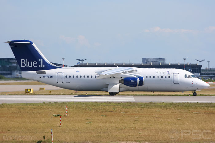 OH-SAN BAe146-RJ100 E3387 Blue1 @ Helsinki Airport 2008 © Piti Spotter Club Verona