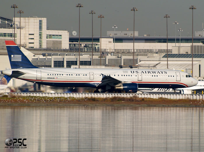 N194UW A321-231 3629 US Airways @ San Francisco Airport 15.10.2013 © Piti Spotter Club Verona
