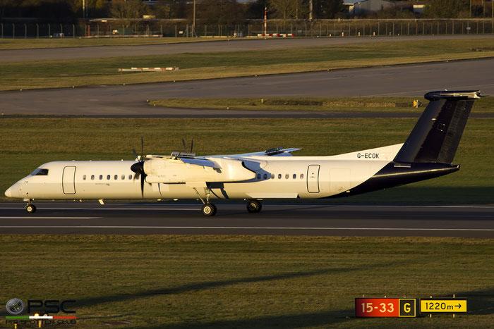 G-ECOK DHC-8-402 4230 Flybe - British European @ Birmingham Airport 11.2017 © Piti Spotter Club Verona