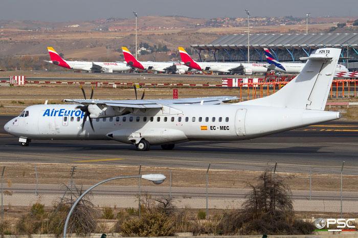 EC-MEC ATR72-212A 595 Air Europa @ Madrid Airport 23.11.2017 © Piti Spotter Club Verona