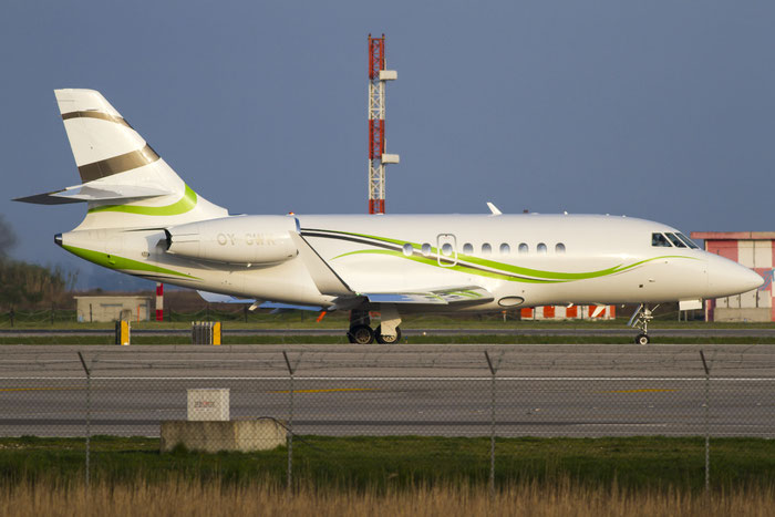 OY-GWK Falcon 2000S 715 Air Alsie @ Venice Airport 30.03.2014 © Piti Spotter Club Verona