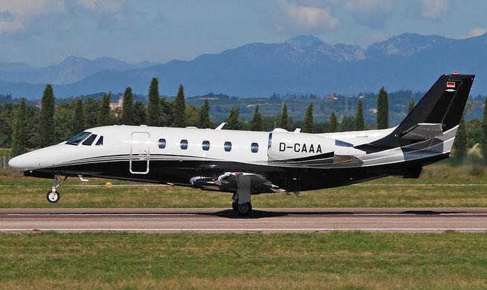 D-CAAA Ce560XLS 560-5555 Daimler-Chrysler @ Aeroporto di Verona 04.09.2018  © Piti Spotter Club Verona